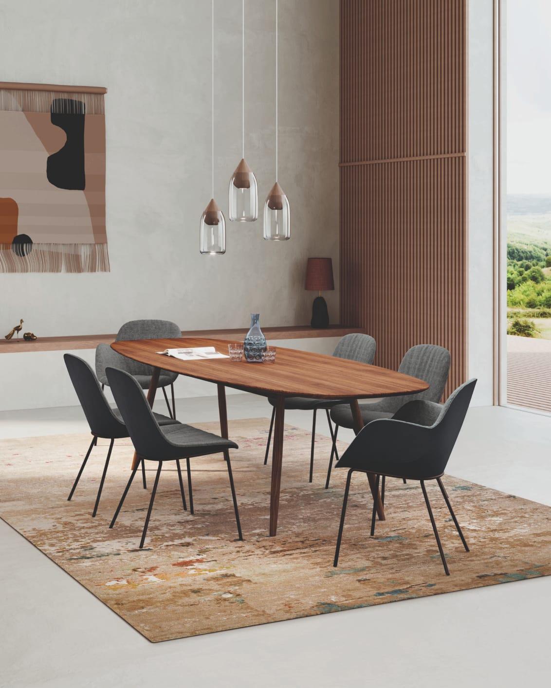 Moualla Table. Design: Neptun Ozis. Sheru chAIR. Design: EOOS.